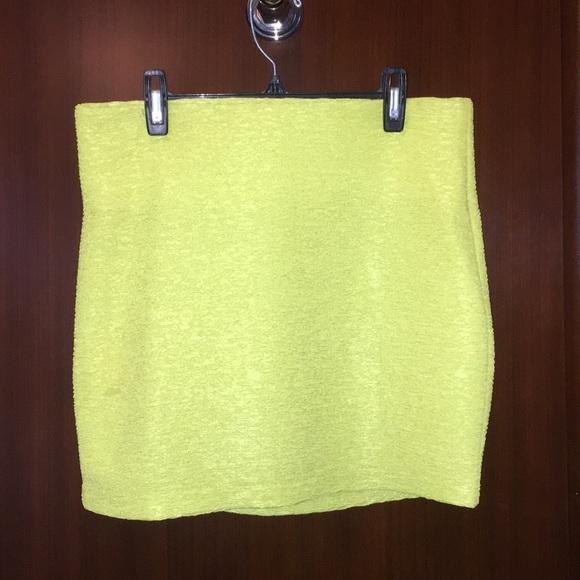 BCBGeneration Dresses & Skirts - Lime Green BCBG Generation Mini Skirt